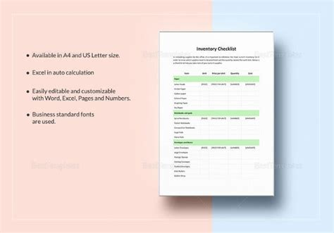 2 Tool Inventory Template – Free Word, Excel, PDF
