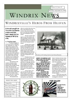 OUTSIDERS - Writing Task - Newspaper Article - Point of