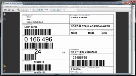 Online Label Printing / Web Printing / Supplier Labeling