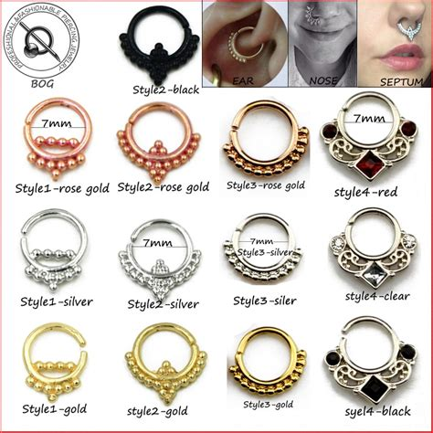Small Size 1 Piece Real Septum Ring Pierced Piercing Septo