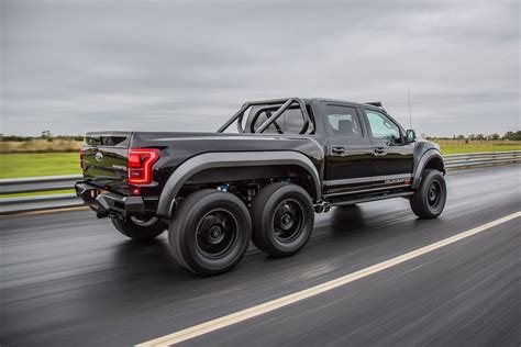 Watch the $349,000 USD Hennessey VelociRaptor 6X6 Go Out