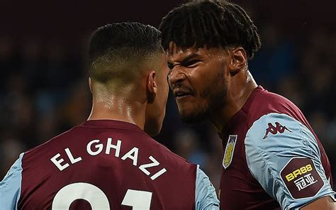 Aston Villa players clash and West Ham have a man sent off