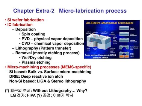 PPT - Chapter Extra-2 Micro-fabrication process PowerPoint