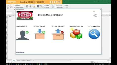 Excel Inventory Management System- Windows / Office / 365