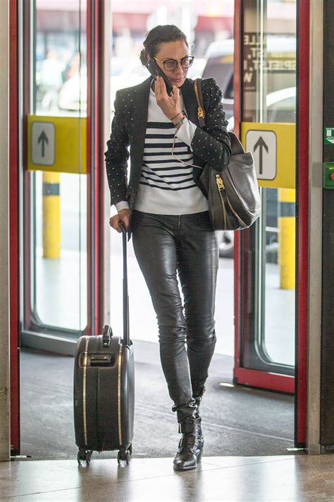 Lilly Becker seen at Berlin airport - Leather Celebrities