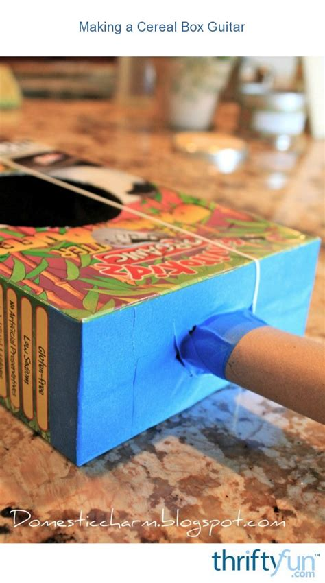 Making a Cereal Box Guitar   ThriftyFun
