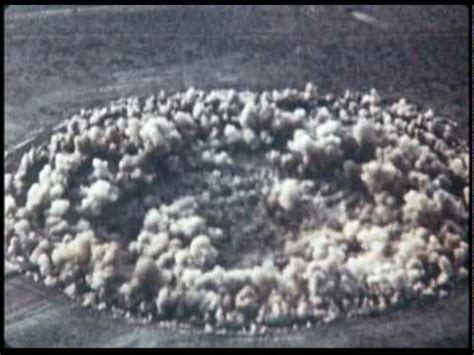 Nuclear Bomb Test Subsidence Crater Formation - YouTube
