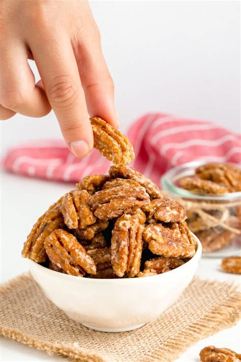 How to Make Candied Pecans - just 3 ingredients! (paleo