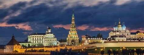 Kazan Kremlin and the fireworks on the City Day · Russia