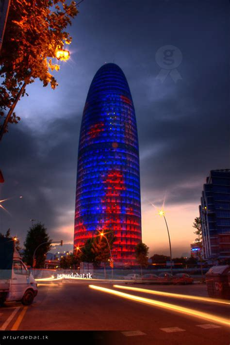 Torre Agbar by night   Check it out my Portfolio: GETTY