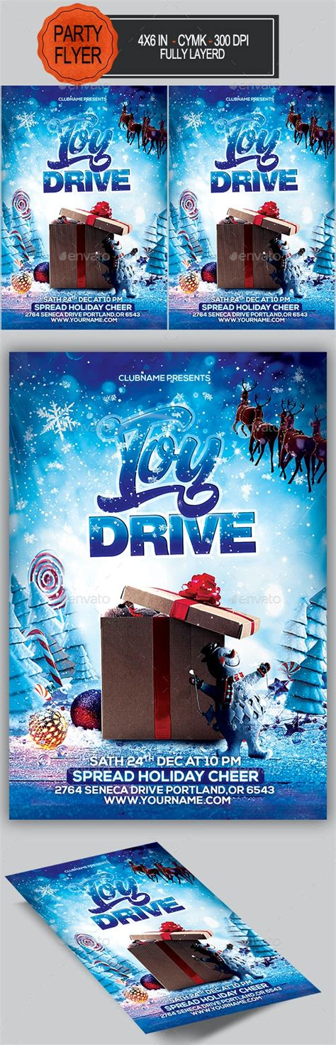Toy Drive Flyer by seasonOFTHEflowers   GraphicRiver