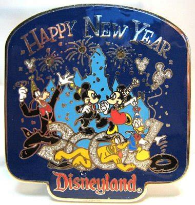 Happy New year 2000 at Disneyland light up pin from our