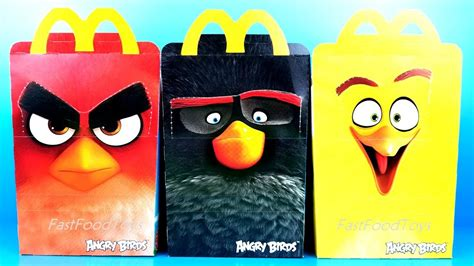 2018 ANGRY BIRDS McDONALDS HAPPY MEAL TOYS BOXES ROVIO