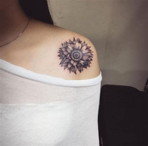Sunflower Shoulder Tattoo Designs, Ideas and Meaning