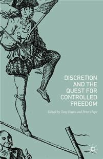 Discretion and the Quest for Controlled Freedom - Semantik