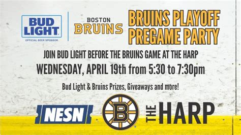 Join Bud Light At The Harp Tonight For Bruins Pre-Game 4